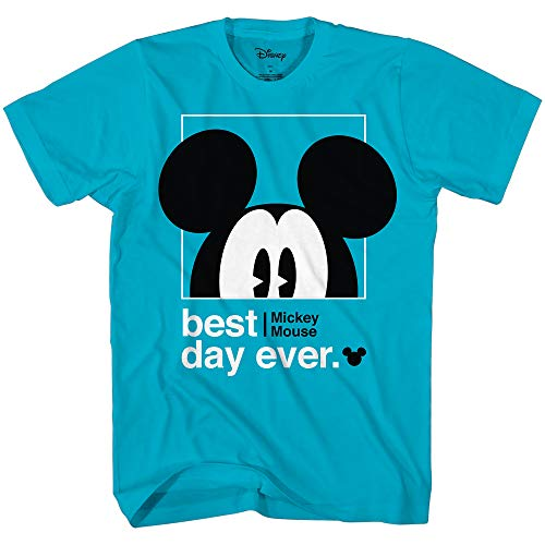 Disney Mickey Mouse Best Day Ever Toddler Youth Juvy Kids T-Shirt (8, Turquoise)