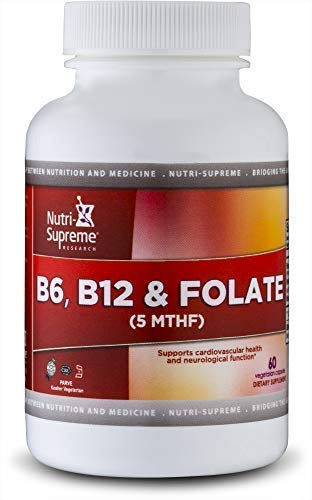 B6 , B12 & Folate: Helps Maintain Normal Homocysteine Levels and Cardiovascular Health - 60 count - Certified Kosher