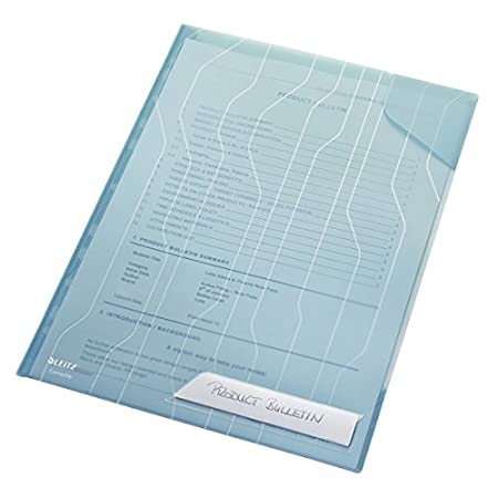 Confezione da 3 buste Porta documenti 80gr//mq Formato A4 per busta Blu 47270035 Con tasca Leitz Busta espandibile CombiFile Trasparente Foglio in PP spessore da 200 micron Capacit/à fino a 150 fogli A4