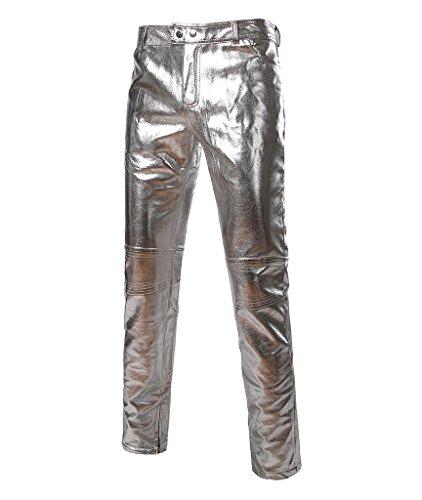 Metallic Zip Fly Jeans - 6