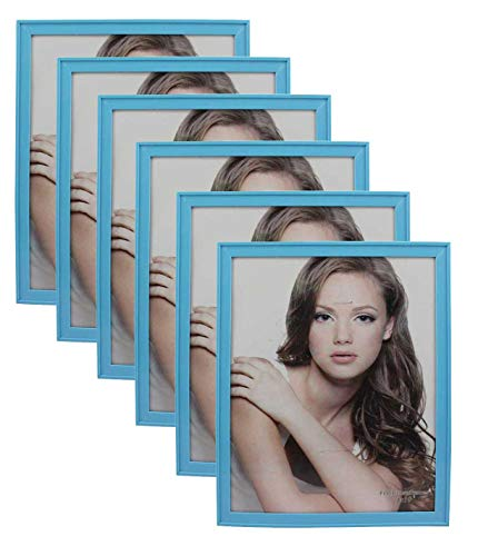 PP Modern Collection Photo Frame Baby Blue Plastic (8