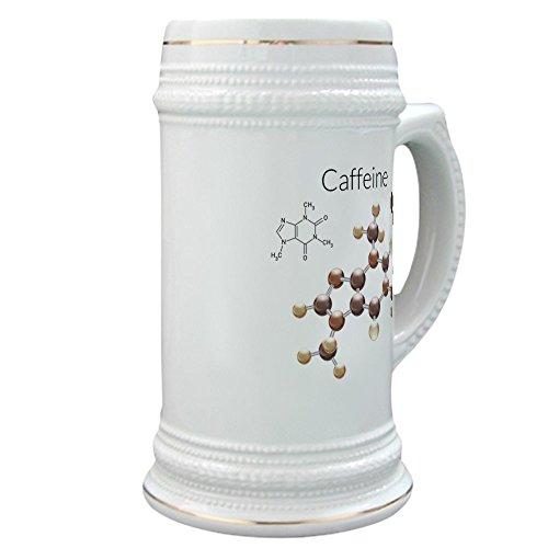 (Stein (Glass Drink Mug Cup) Caffeine Lover 3D Atomic Structure)