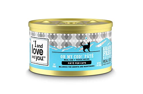 """I and love and you"" Naked Essentials Canned Wet Cat Food - Grain Free, Cod + Chicken, 3-Ounce, Pack of 24 Cans"