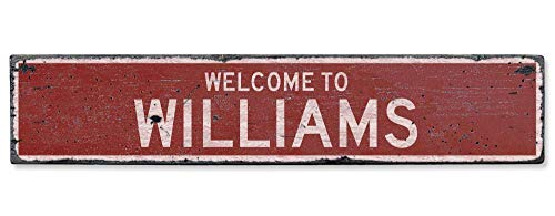 HarrodxBOX Welcome to Williams Vintage US Williams, Iowa Distressed Custom City Sign Metal Signs Funny Aluminum Sign for Garage Home Yard Fence Driveway