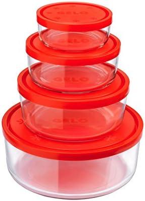 Bormioli Rocco 226018S02021990 4 Teiliges un congelador Cajas ...