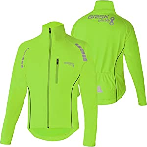 Brisk Bike Highly Visible Lightweight Cycling Jacket Green