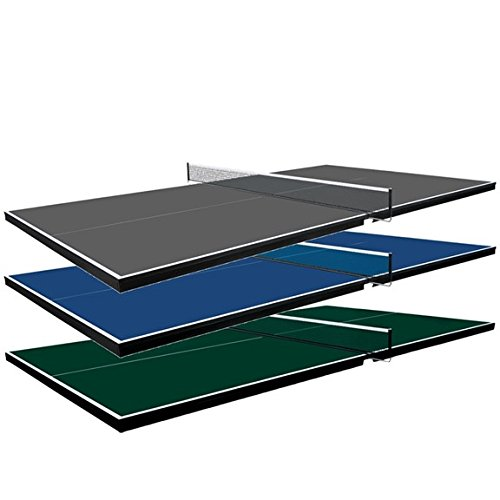 Martin Kilpatrick Table Tennis Conversion Top - Pool Table Ping Pong Top – Choose Blue, Green, or Grey Colors - Optional Ping Pong Paddle Set - Net Set and Protection Pads Included - 3 Year Warranty Ping Pong Table Topper