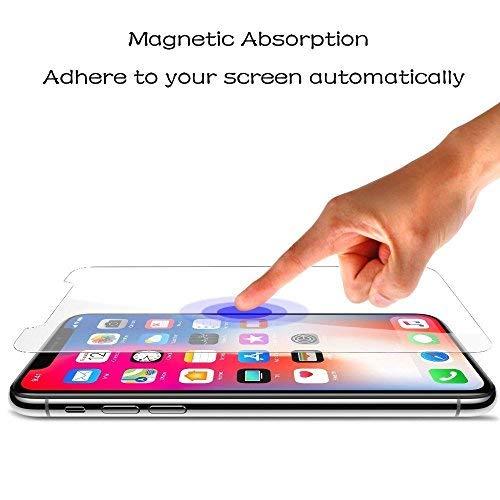 ADDAO Glass Screen Protector Compatible iPhone X, [2-Pack] 0.33mm Clear Film Anti-Scratch Anti-Fingerprint High Light Tempered Glass Screen Protector