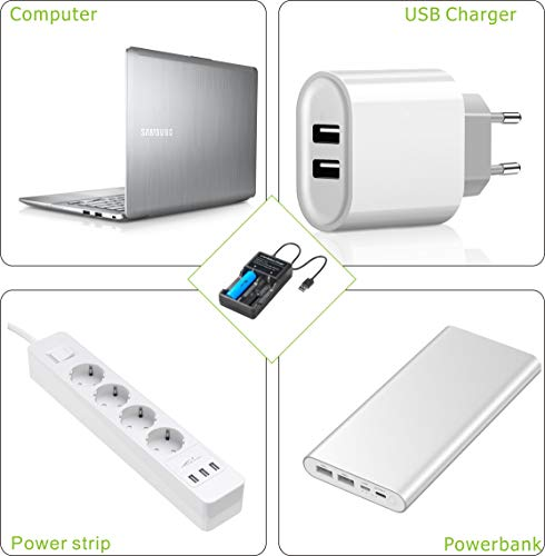 18650 Battery Charger for 3.7V 18650 14500 16340 26650 Batteries Charge Anywhere Without Battery