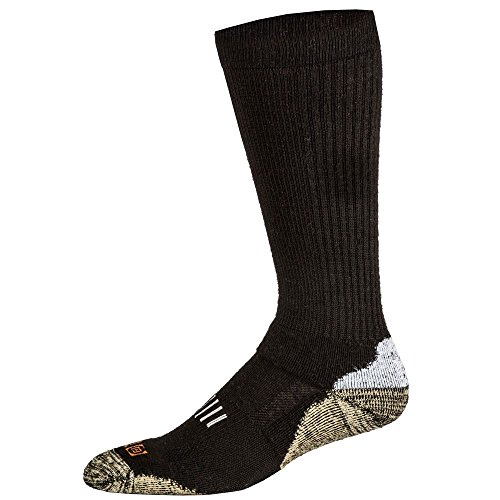 5.11 10023-019-L Merino Crew Socks, Black, Large