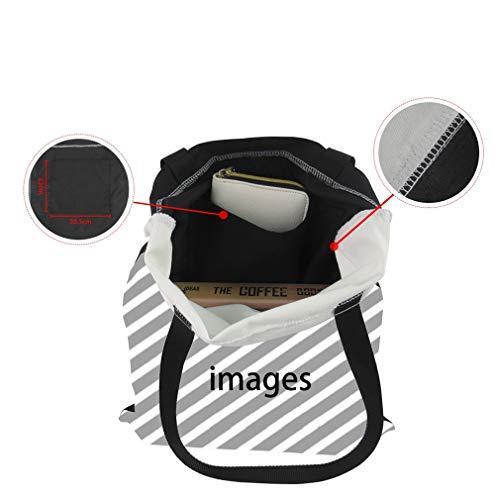 Weohau 3D borse Portable borsa borsa libri stampato cavallo casual borsa viaggio borsa di Fashion School Canvas RrR1q