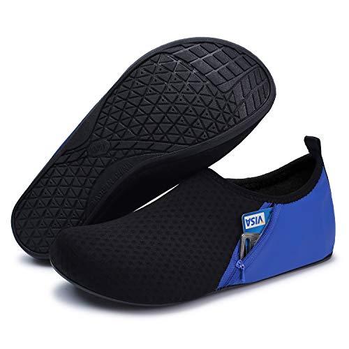 Yoga Black Jiasuqi Para Zapatos Clásico Calcetines Antideslizante Aqua Resaca Ejercicio Playa Pocket Agua El La Blue Piel De Natación STSZnrB