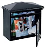 Comsafe Worthersee Extra Large Steel Mail Box A4 Post Letter Black Anthracite 350x390x205 mm