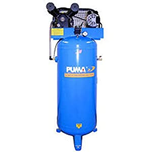 Puma Industries PK-6060V, Commercial /Professional Single-Stage Belt Drive Series, 230/1V/Phase, 60 Gallon Air Compressor, 305lb, 135 Maximum psi, 3 hp Running
