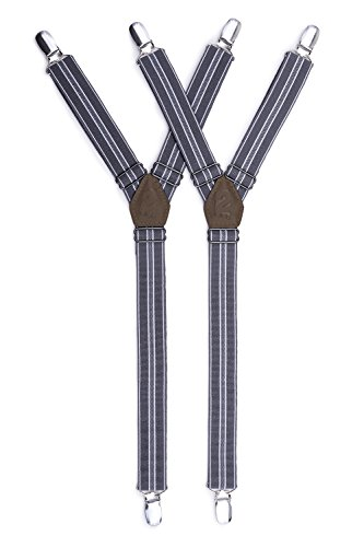 Dapper Y Shaped Shirt Stays - Shirt Suspenders With Adjustable Straps – 1 Pair - Guarder Metal