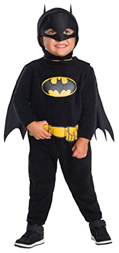 Infant Batman And Robin Costumes (Rubie's Costume DC Comics Batman Romper Costume, Toddler,)