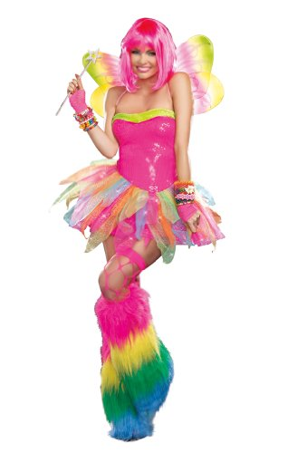 Dreamgirl Women's Rainbow Fairy Costume, Multi, X-Large -