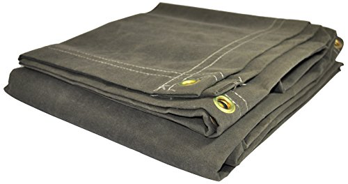 Dry Top 61012 Canvas Tarp, 10' x 12', Olive