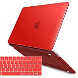 IBENZER MacBook Pro 13 Inch Case 2019 2018 2017 2016 Release A2159 A1989 A1706 A1708, Soft Touch Hard Case Shell Cover for Apple MacBook Pro 13.3 with/Without Touch Bar,Red,MMP13T-RD+1