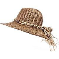 Fenside Country Clothing Fedora de ala ancha para mujer con banda de borla de patrón