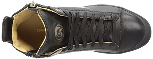 DIESEL - Baskets basses - Homme - Sneakers Noires Zippé All Over Zip-around pour homme