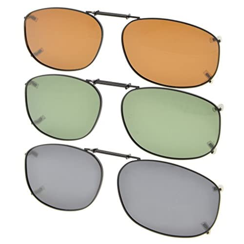 cf16ccfc1 ... gafas de sol polarizadas 54x37MM. 70% OFF Eyekepper Gris/Marrón/G15  Lens 3-Pack clip-en