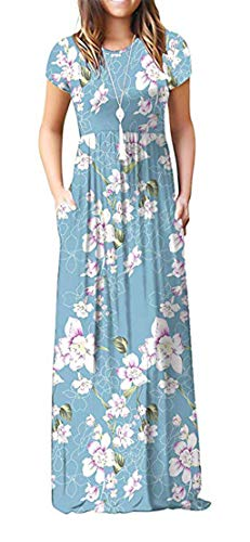 ZIOOER Women Printed Casual Loose Pocket Long Dress for sale  Delivered anywhere in Canada