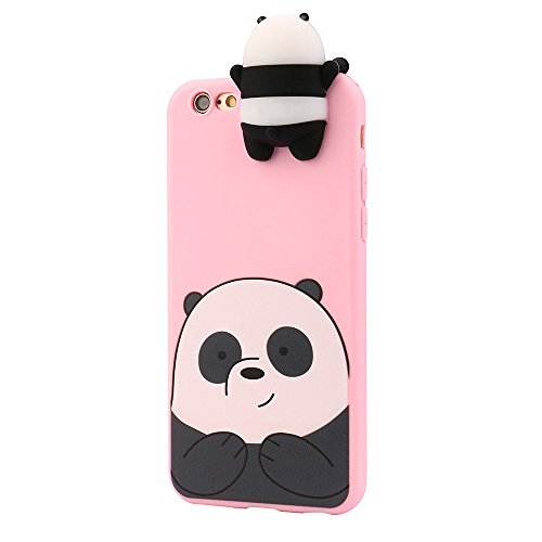 3D Cartoon Panda Soft Silicone Gel Back Case Cover For iPhone 6/6s - 3