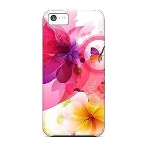 High-quality Durability Cases For Iphone 5c(butterflies Adore Flowers) Kimberly Kurzendoerfer