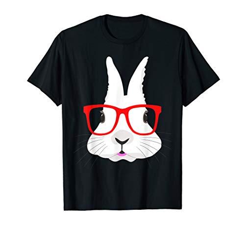 - Easter Bunny Face Shirt Hip Hop Nerd Rabbit Eggs Hunting Tee
