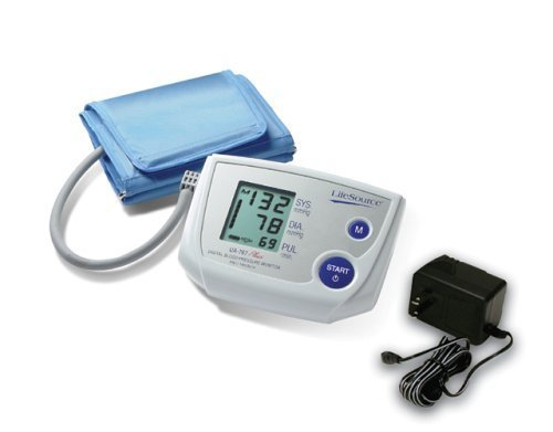 Lifesource Ac Adapter (LifeSource UA-767PSAC Advanced One Step Auto Inflate Blood Pressure Monitor with Small Cuff and AC Adapter by LifeSource)