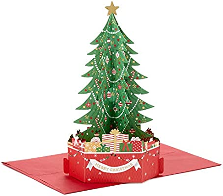 Amazon.com : Hallmark Paper Wonder Displayable Pop Up Christmas Card ( Christmas Tree) : Office Products