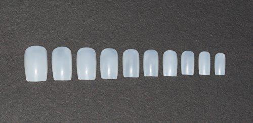 Amazon.com : 600 Pieces Square Nails 10 Sizes - Short/Medium Opaque Nails For Salon Use & DIY Nail Art ♥ FREE GLUE ♥ & ♥ SMALL PREP FILE ♥ : Beauty