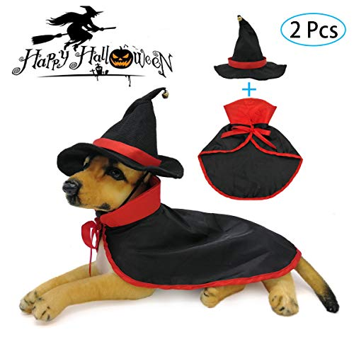 Funny Halloween Dogs (Strangefly Cat&Dog Halloween Costume,Vampire Cloak+Hat Apparel Suit,Holiday Cosplay,Party Dress Up,Cute,Funny and Cool,for Kitten Puppy Small Pet Clothes(2)