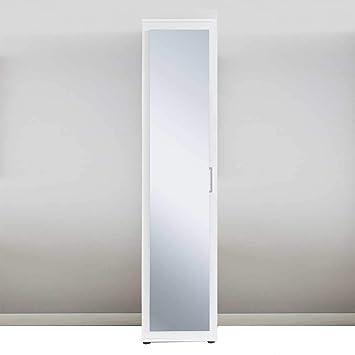 Pharao24 Spiegel Hochschrank In Weiß 40 Cm Breit Amazon De