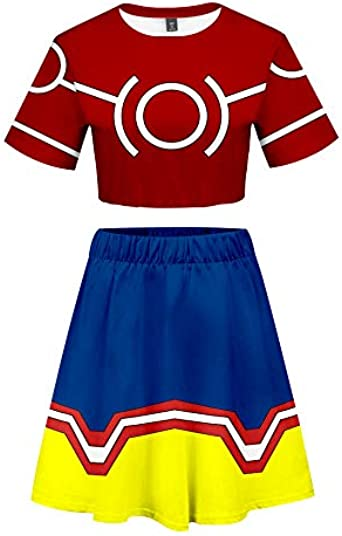 SienaPark My Hero Academia Boku No Hero Teen Linda Camiseta Conjunto de Camisetas y Faldas: Amazon.es: Ropa y accesorios