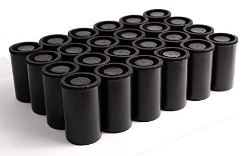 24Pcs Film Canister with Caps for 35mm Film(Black)