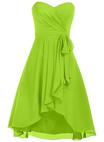 Promenade D'onore Breve Chiffon Calce Daadress Vestiti Delle Di Donne Verde Damigella 2016 BwI1q71a