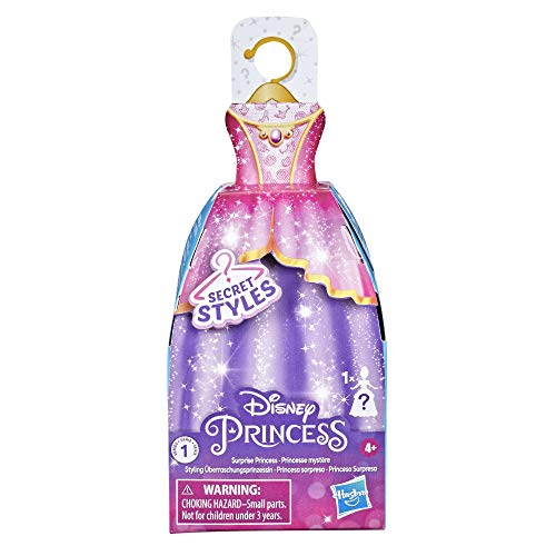 Disney Princess Secret Styles Surprise Princess Series 1, Mini Fashion Doll with Dress, Blind Box Collectible Toy for Girls 4 Years and Up