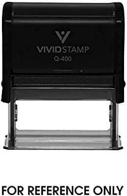 Amazon For Reference Only Self Inking Rubber Stamp Black Ink