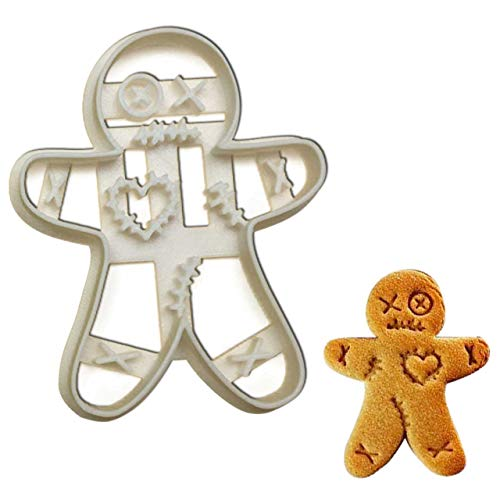 VooDoo Doll Gingerbread Man cookie cutter, 1 pc, Ideal for Halloween Party -