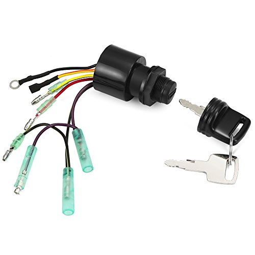 RUPSE 87-17009A5 Ignition Key Switch for Mercury Outboard Box Motor 3 Position Off-Run-Start