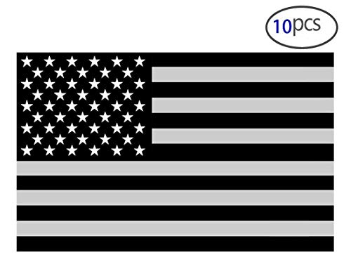 10PCS American Subdued Flag Sticker Tactical Military Sticker 4 ()