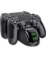 PS4 Controller Charger, BEBONCOOL PS4 Controller Charging Dock with USB Charging cable, Dualshock PlayStation 4 Controller Charging Station for PS4 / PS4 Slim / PS4 Pro Controllers