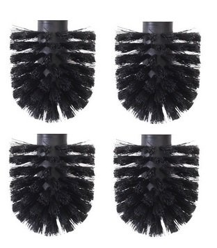 ToiletTree Products Toilet Brush Replacement Heads for Brushes (4) by ToiletTree Products
