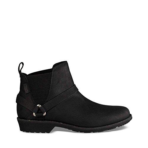 Waterproof Bootie - Teva Women's W DE LA Vina Dos Chelsea Boot, Black, 8.5 M US
