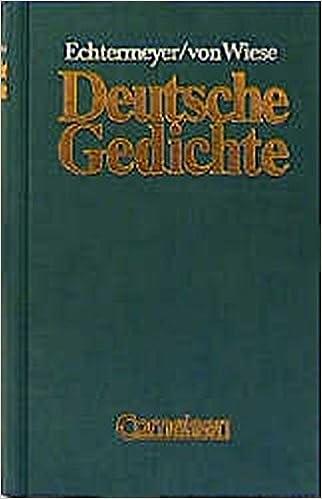 Deutsche Gedichte Von Den Anfängen Bis Zur Gegenwart