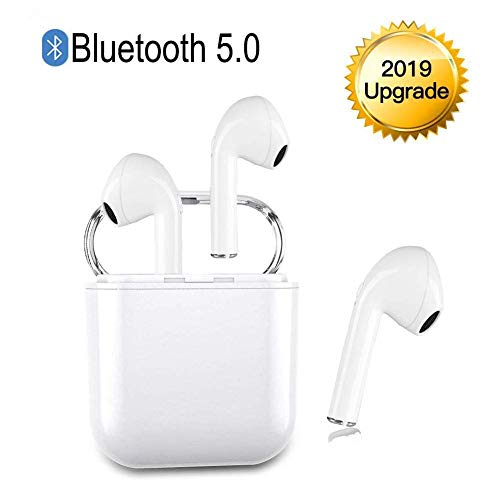 Wireless Earbuds,Bluetooth Headphones Mini in-Ear Headsets Sports Earphone with True Wireless Earbuds and Built-in Charging case for Airpods Android iPhone White .
