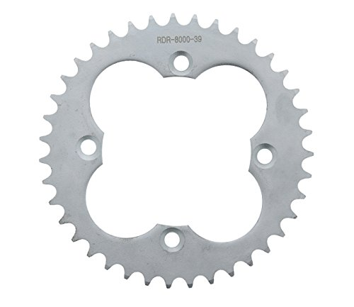 Race Driven 39 Tooth Rear Silver Sprocket 520 Pitch for Honda TRX 250 250X 250R 300 300EX 400 400EX 400X 450 450R ()