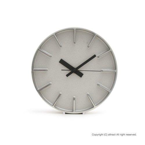 Lemnos レムノス edge clock エッジクロック Sサイズ カラー:アルミニウム AZ-0116 デザイン:AZUMI 置時計 壁掛け時計 掛時計 時計 ウォールクロック B00EDZU2K6 アルミニウム アルミニウム